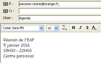 exemple mail info