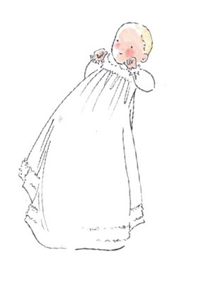 bapteme vêtement blanc