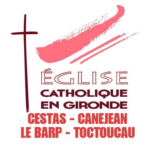 logo eglise catholique blanc Cestas