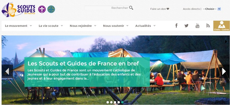 Scoute et guide france site